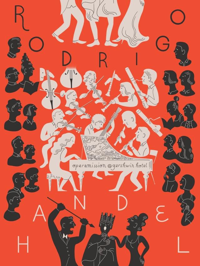 Handel's RODRIGO, illustration by Tomi Um