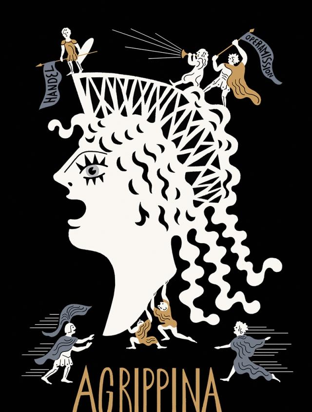agrippina - original illustration by tomi um