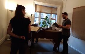christine and randall – recit rehearsal